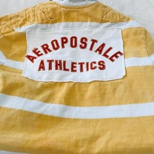 Youth Aeropostale Athletics Distressed Rugby
